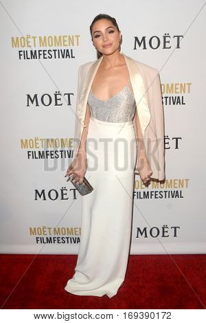 LOS ANGELES - JAN 4:  Olivia Culpo at the 2nd Annual Moet Moment Film Festival at Doheny Room on January 4, 2017 in West Hollywood, CA
