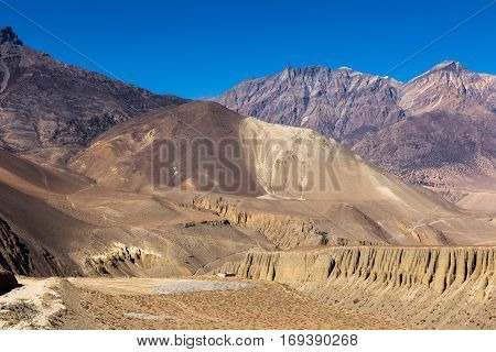 mountain landscape the Himalayas Lower Mustang Nepal