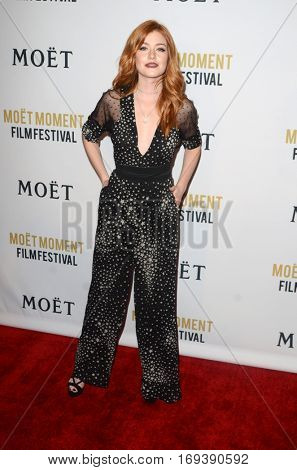 LOS ANGELES - JAN 4:  Katherine McNamara at the 2nd Annual Moet Moment Film Festival at Doheny Room on January 4, 2017 in West Hollywood, CA