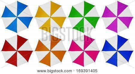Umbrella Isolated- Colorful