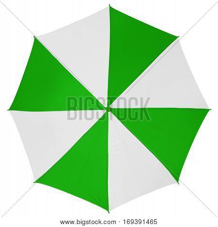 Umbrella Isolated- Green-white