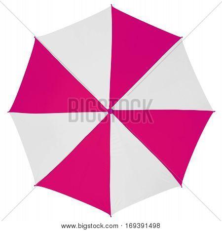Umbrella Isolated- Pink-white
