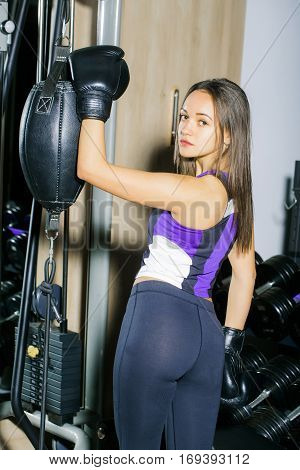 Pretty Sexy Girl Boxer Training