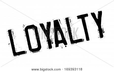 Loyalty rubber stamp. Grunge design with dust scratches. Effects can be easily removed for a clean, crisp look. Color is easily changed.