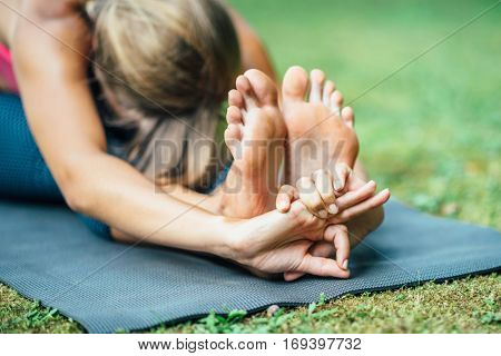 Yoga Seated Foward Bend