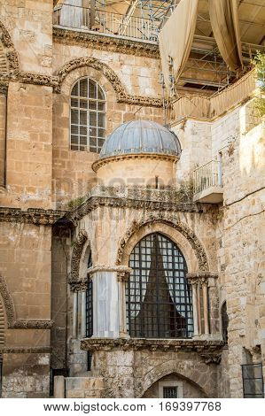 The Church of the Holy Sepulchre, the Chapel of the Franks in the Old City of Jerusalem, Israel