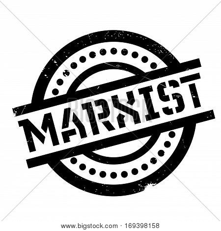 Marxist rubber stamp. Grunge design with dust scratches. Effects can be easily removed for a clean, crisp look. Color is easily changed.