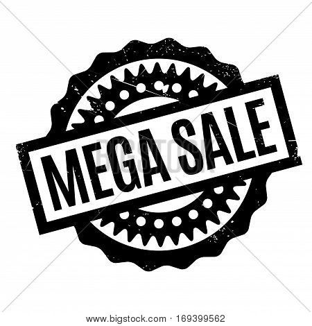 Mega Sale rubber stamp. Grunge design with dust scratches. Effects can be easily removed for a clean, crisp look. Color is easily changed.