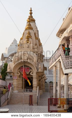 NEW DELHI, INDIA. 30 may 2009: The temple complex of Chattarpur Mandir, South-Western outskirts of the city of New Delhi, India.