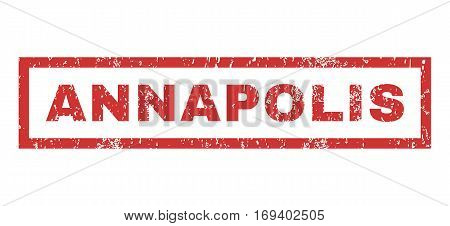 Annapolis text rubber seal stamp watermark. Caption inside rectangular banner with grunge design and dirty texture. Horizontal vector red ink sign on a white background.