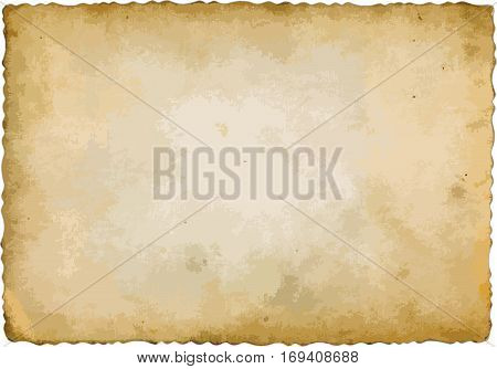 isolated old sheet of paper - vector illustration