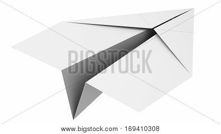 Blank Paper Airplane