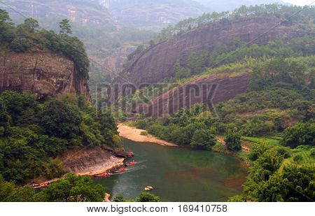 Rafting On The River Of Nine Bends, Wuyishan, China
