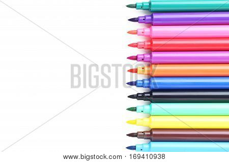 Felt-tip Pens Isolated On A White Background