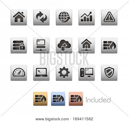 Web Developer Icons - The vector file includes 4 color versions for each icon in different layers.