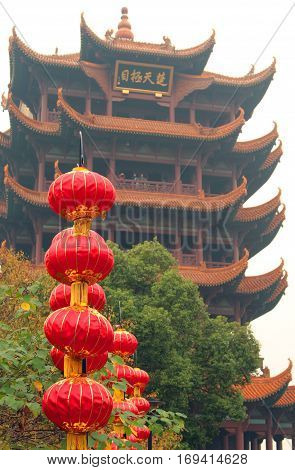 Yellow Crane Tower in Wuhan Hubei province of China
