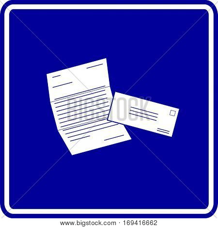 mailed document and envelope sign