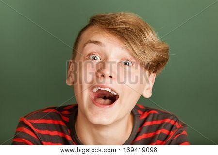 Surprised Teenager Boy