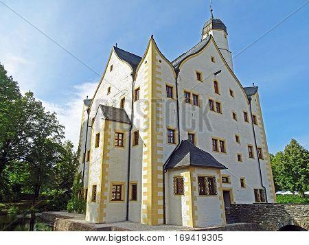 Moated Castle Wasserschloss Klaffenbach in Chemnitz (Germany)