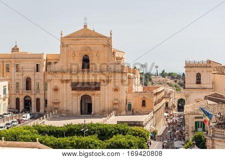 The Church Of Santissima Salvatore In Noto, Sicily