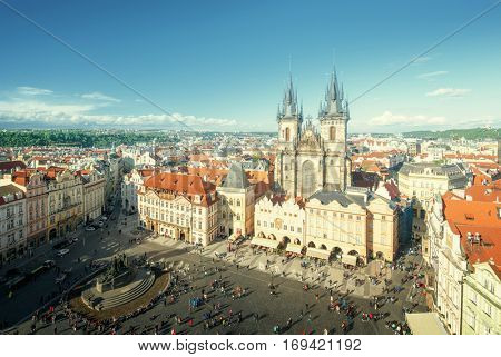 Old town square in Prague,