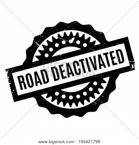 Road Deactivated rubber stamp. Grunge design with dust scratches. Effects can be easily removed for a clean, crisp look. Color is easily changed.