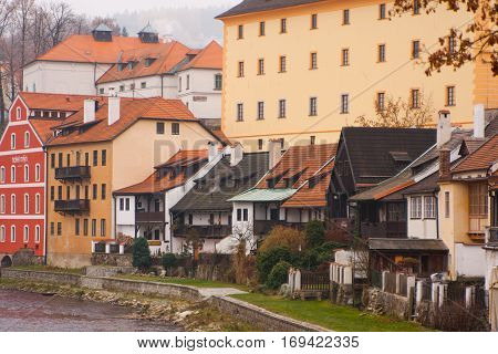 Historical houses in Cesky Krumlov. Czech Republic