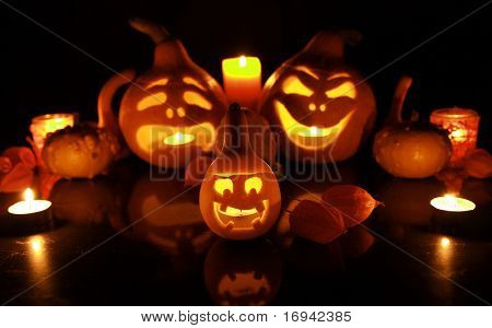 halloween pumpkins with funny faces