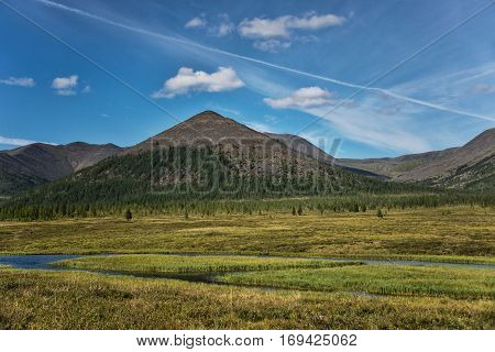 Northern landscape: boreal forest tundra and mountains