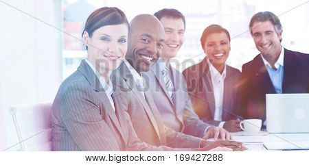 Business group showing diversity in a meeting. business concept.