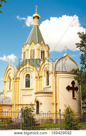 Built in 1867 under the project of architect K. A. Tone. In 1880 in Luban Church was buried the author of the project of the Nikolaev railway and the first Minister of Railways of Russia P. P. Melnikov. In 1939 the Luban temple was closed and was used as