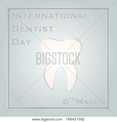 Vector illustration of International Dentist Day for your design.