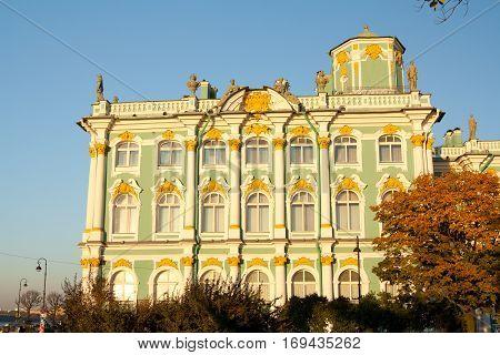 Hermitage Museum - Winter palace of Russian kings Saint Petersburg Russia