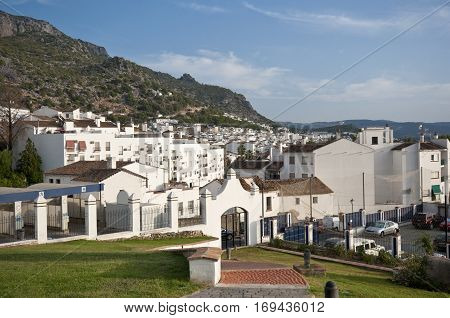 Views of Ubrique Cadiz. This village is part of the pueblos blancos (white towns) in southern Spain Andalusia region and reminds the Arab past