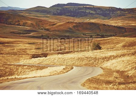Scenic Black Hills South Dakota Summer Landscape. South Dakota United States.