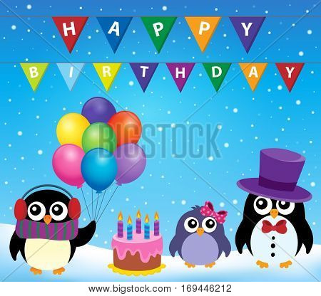Party penguin theme image 8 - eps10 vector illustration.