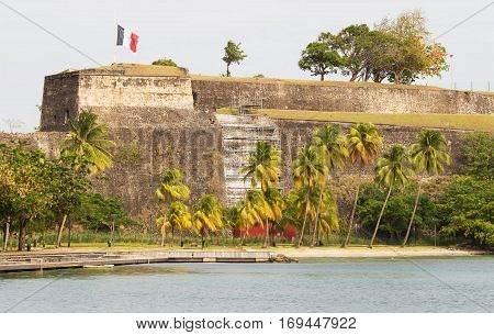 The Fort Saint Louis Martinique island French West Indies.