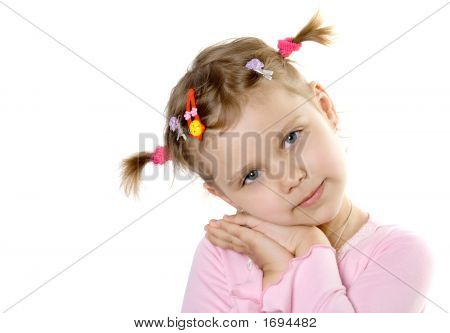 Pretty Child Look In To Camera
