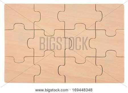 Wooden puzzles blank empty elements