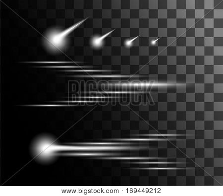 Glow isolated white transparent effect, lens flare, explosion, glitter, line, sun flash, spark and stars. For illustration template art design, banner for Christmas celebrate, magic flash energy ray