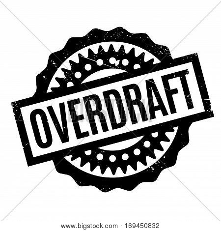 Overdraft rubber stamp. Grunge design with dust scratches. Effects can be easily removed for a clean, crisp look. Color is easily changed.