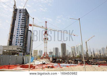 A construction site in Dubai city UAE