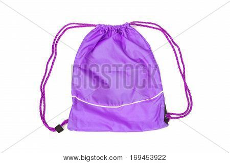 Purple drawstring bags for people with an active lifestyle