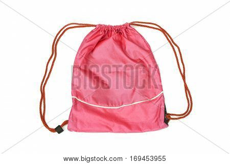 Red drawstring bags for people with an active lifestyle
