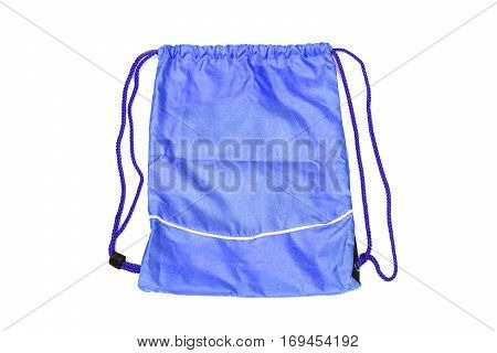 Blue drawstring bags for people with an active lifestyle