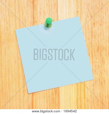 Blank Reminder On Wood Desk