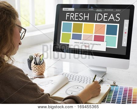 Colour Shade Design Colourful Palette Concept