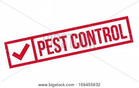 Pest Control rubber stamp. Grunge design with dust scratches. Effects can be easily removed for a clean, crisp look. Color is easily changed.