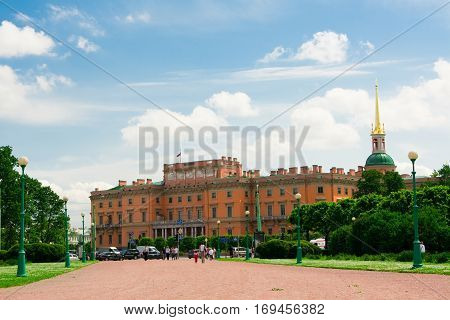 Mikhailovsky Castle aka St Michael's castle or Engineers castle St Petersburg Russia. One of the main attractions of the city with museum inside.