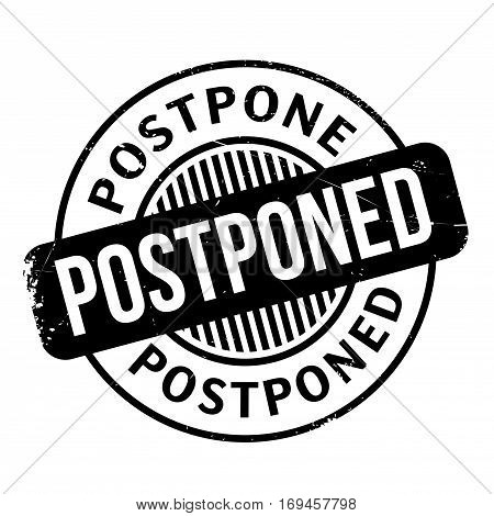 Postponed rubber stamp. Grunge design with dust scratches. Effects can be easily removed for a clean, crisp look. Color is easily changed.